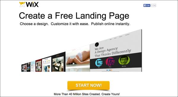 Wix-Landing-Page
